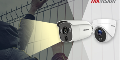 Hikvision new AcuSense IP cameras with a light and sound siren